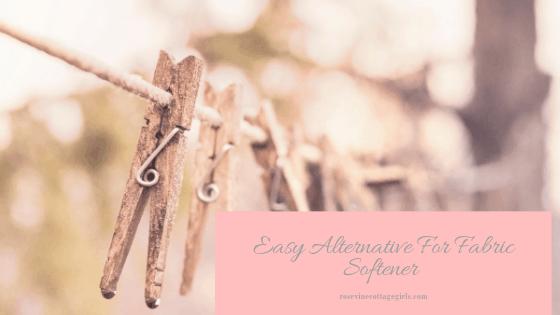 easy alternative for fabric softener