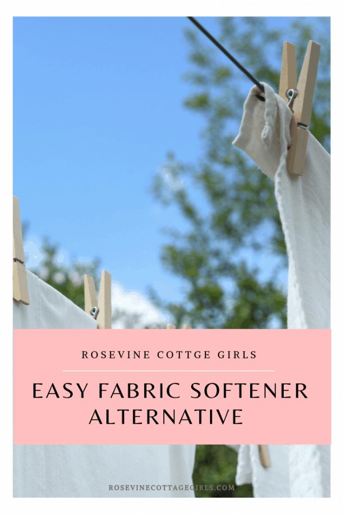 easy fabric softener alternative, alternative to fabric softener, vinegar fabric softener, homemade fabric softener, by Rosevine Cottage Girls