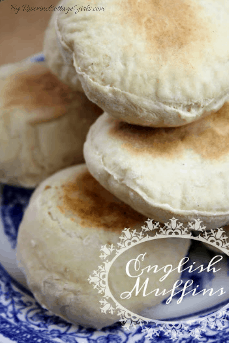 English Muffin, English Muffin Recipe, Organic English Muffin, Crumpet, Muffin, by Rosevine Cottage Girls