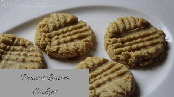 Peanut Butter Cookies, Homemade Peanut Butter Cookies, by Rosevine Cottage Girls