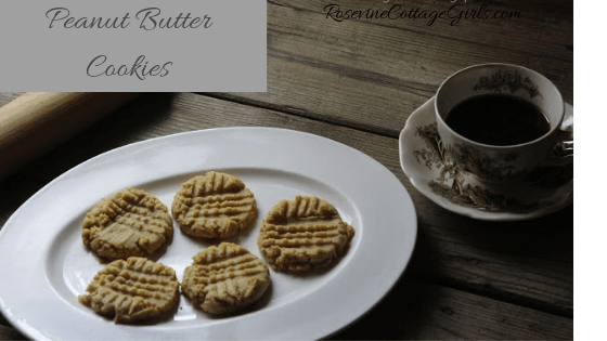 Peanut butter cookies, peanut butter cookie recipe, homemade cookie recipe, by Rosevine Cottage Girls