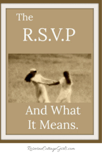 RSVP, What is RSVP, What Does RSVP Mean, How To RSVP, When To RSVP, Responding To Invitations, by Rosevine Cottage Girls | Two girls in a field holding hands. RosevineCottageGirls.com
