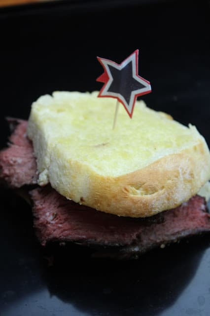 Smoked Roast Beef on Texas Toast