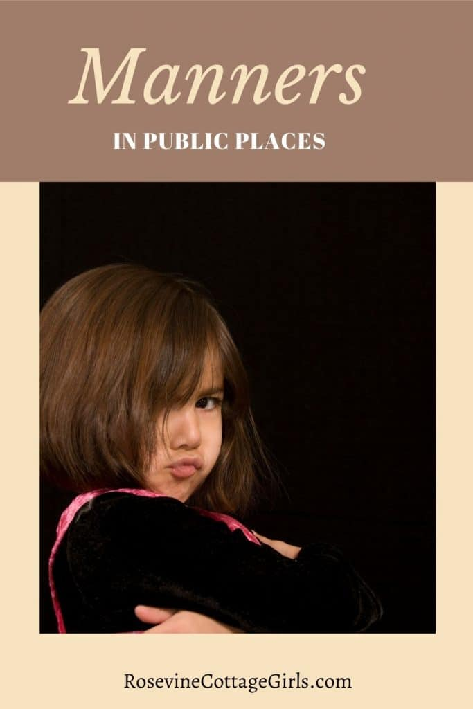 Manners in public places 2 | Photo of a little girl pouting