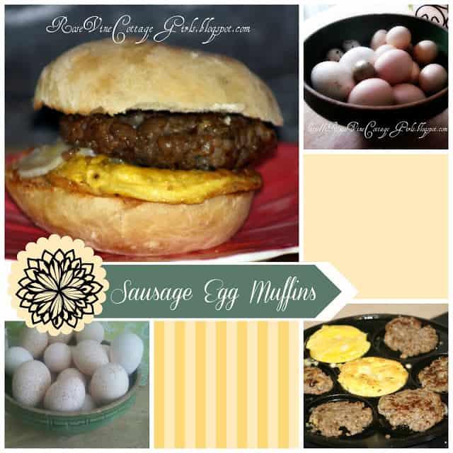 Egg Sandwich, Breakfast Sandwich, Egg Muffin, Egg McMuffin, by rosevine cottage girls