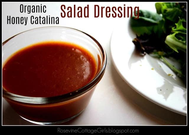 Organic Honey Catalina Salad Dressing, Catalina Dressing, Homemade Catalina Dressing, Red French Dressing, by Rosevine Cottage Girls