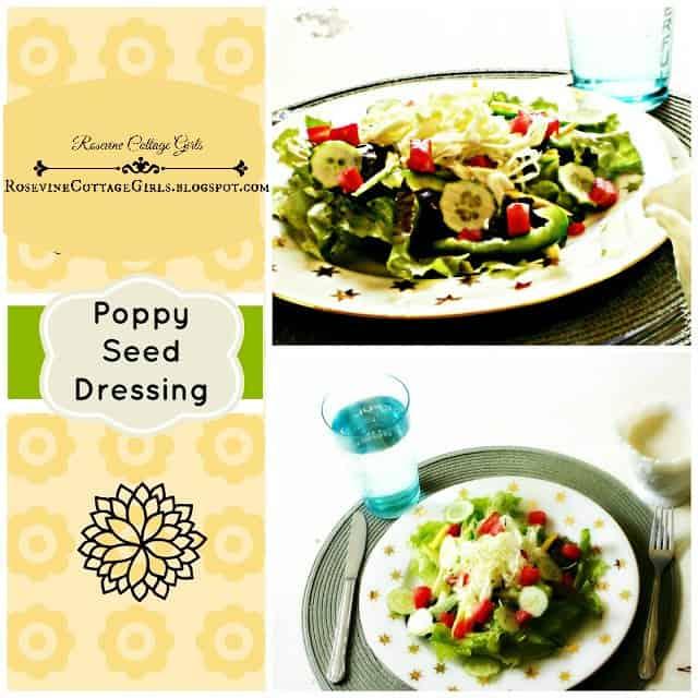 Poppy Seed Dressing, Poppy Seed Salad Dressing, Homemade Poppy Seed Dressing, by Rosevine Cottage Girls