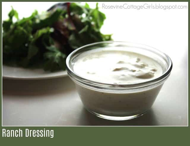 Ranch Dressing, Ranch Salad Dressing, Homemade Ranch Dressing by Rosevine Cottage Girls