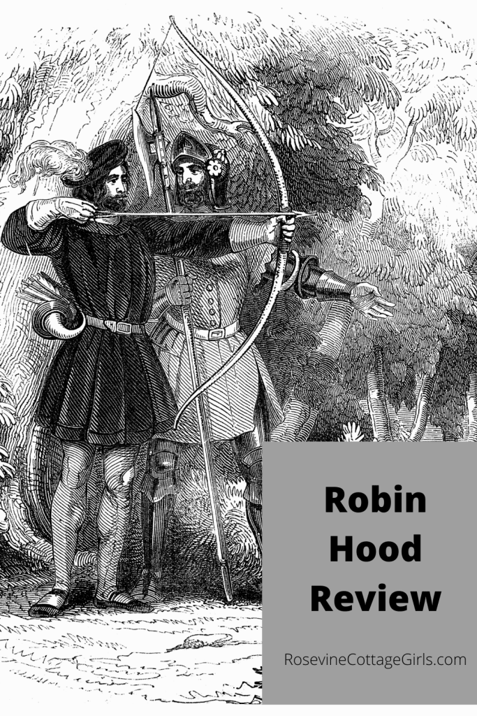 picture of two men with bows and arrows - test Robin Hood Review by Rosevine Cottage Girls