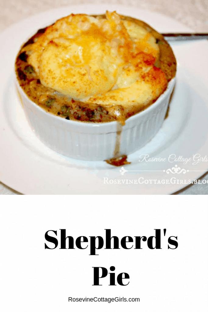 Sheperd's Pie, Shepherd's Pie Recipe, Individual Shepherd's Pie, Comfort Food Recipes by Rosevine Cottage Girls