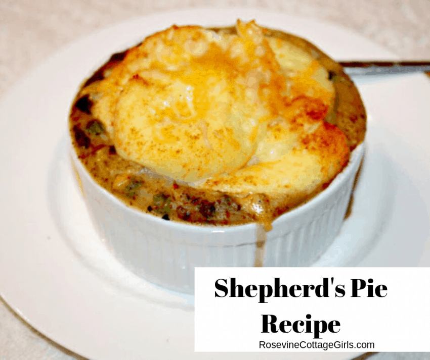 Shepherd's Pie, Shepherd's Pie Recipe, Comfort Food Recipes, by Rosevine Cottage Girls