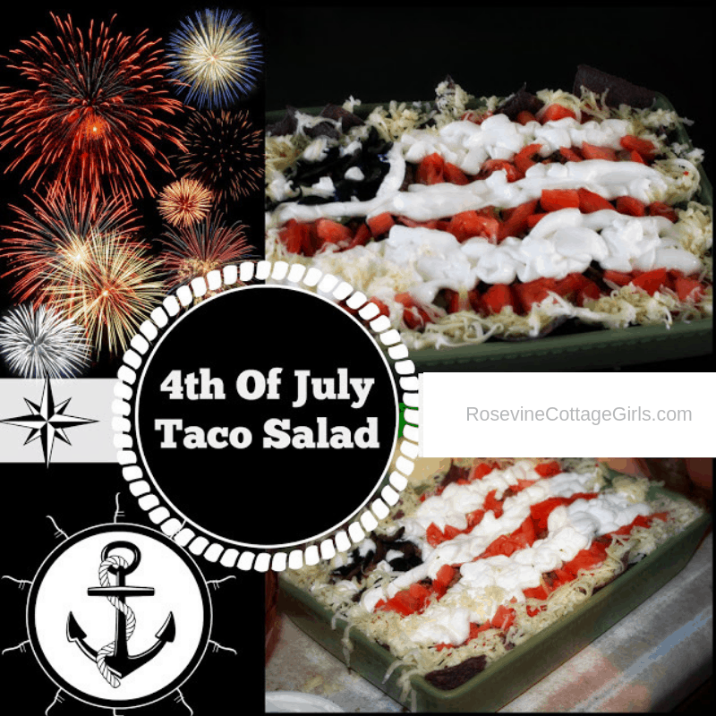 Taco Salad Casserole, Taco Salad Recipe, Taco Salad, 4th of July Taco Salad