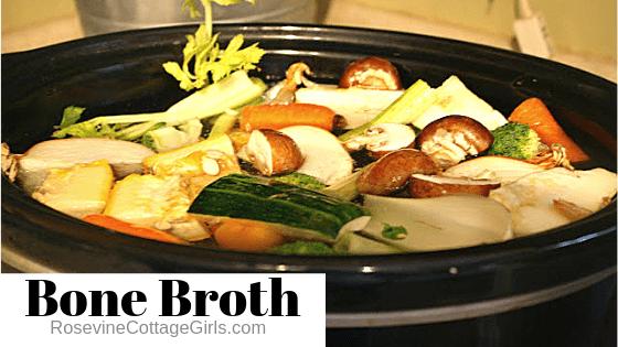 Bone Broth, Healthy Bone Broth, Homemade Bone Broth, Bone Broth Recipe, by Rosevine Cottage Girls