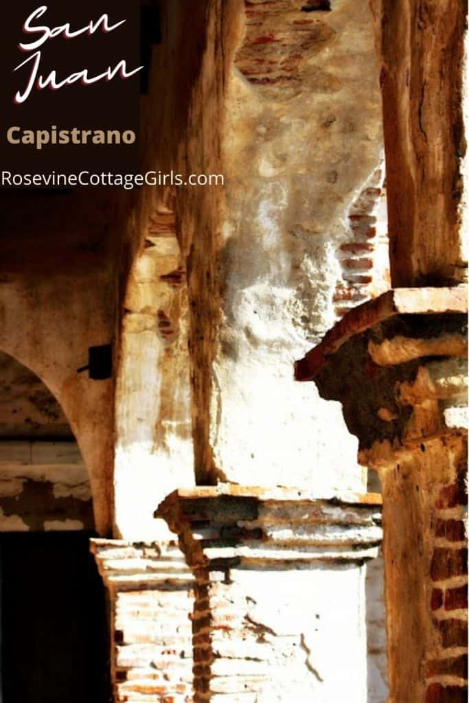 Photo of arches of the San Juan Capistrano Mission in California