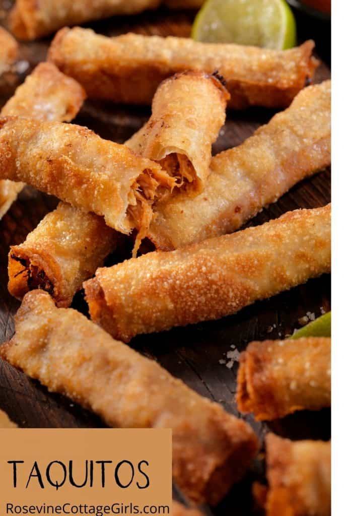 Beef Taquitos on a platter
