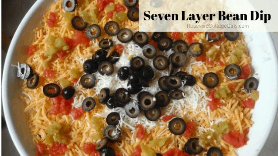 seven layer bean dip, 7 layer bean dip, bean dip