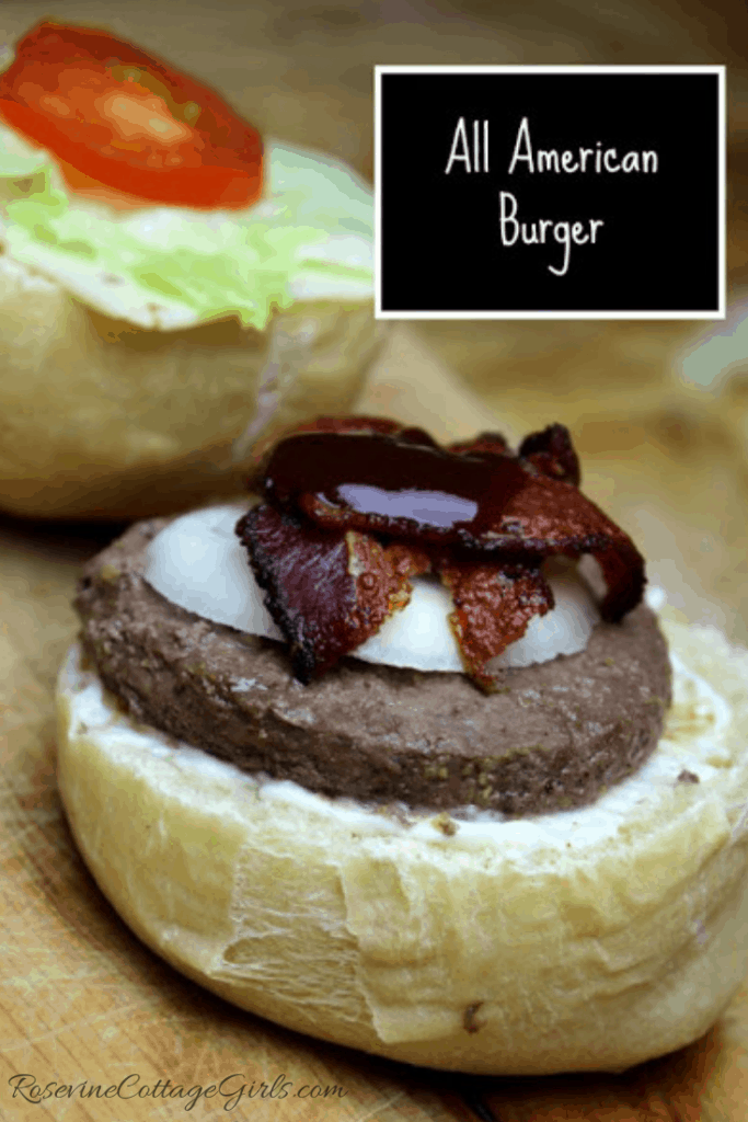 All American Burger, Classic Burger Recipe, Barbecue Bacon Burger, Bbq Bacon Burger
