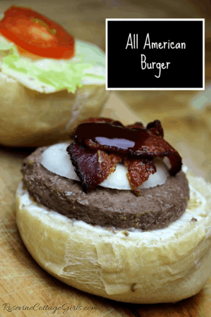 All American Burger, Classic Burger Recipe, Barbecue Bacon Burger, Bbq Bacon Burger