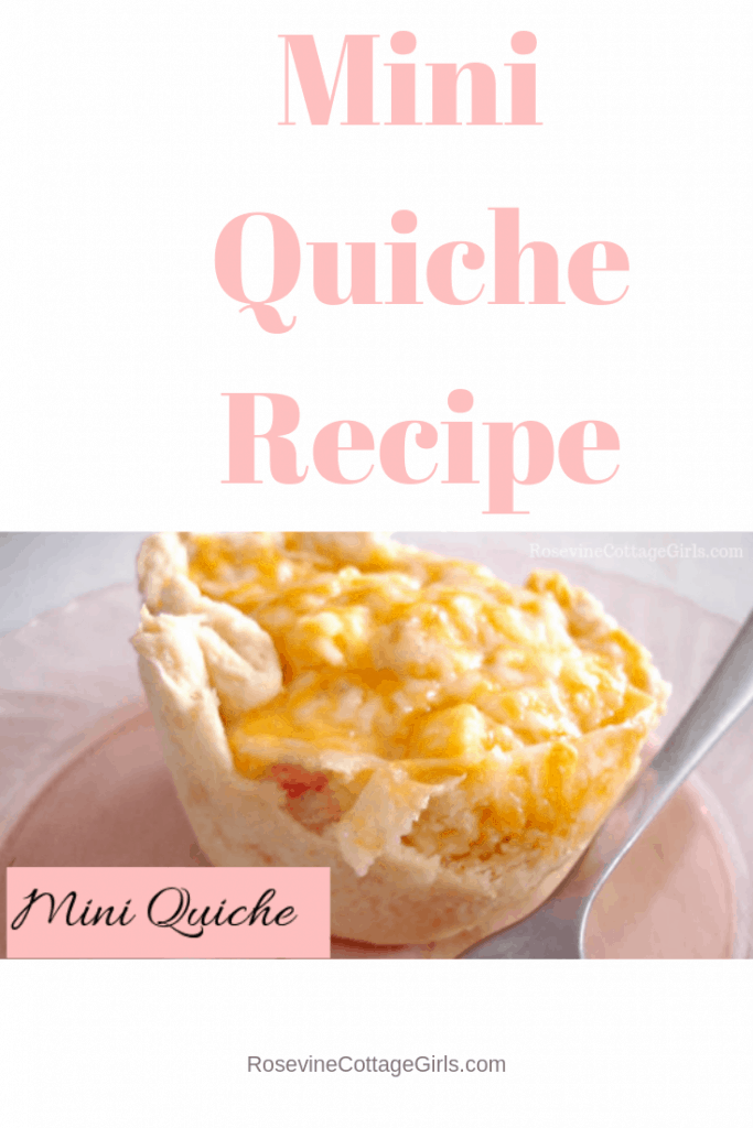 Mini Quiche Pinnable by Rosevine Cottage Girls