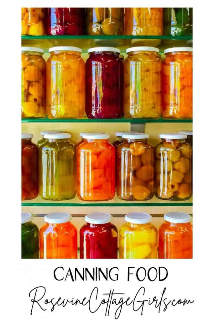 Canning Food | Photo of jars of canned food on shelves