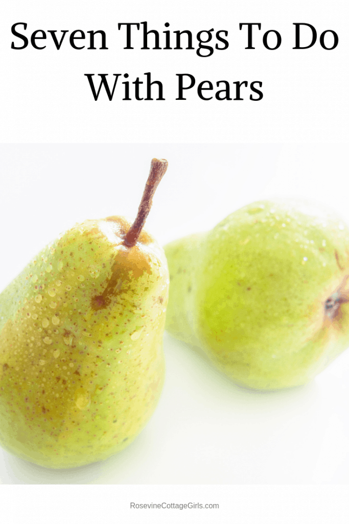 Pears on a white background | Preserving pears recipes