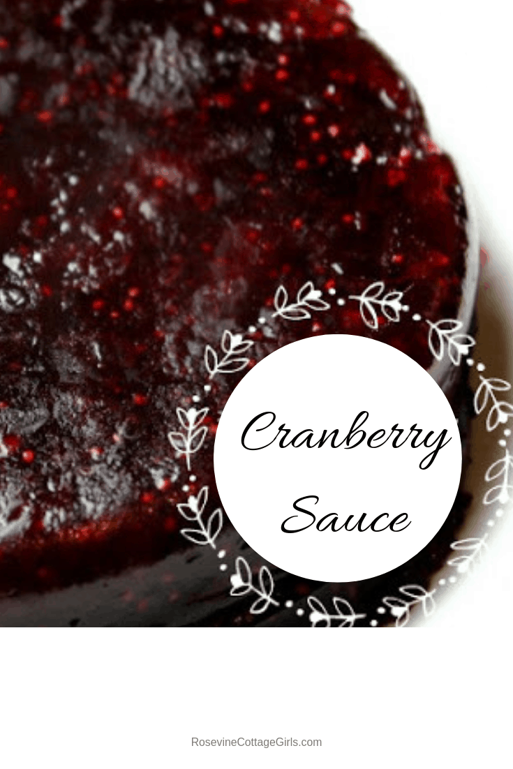 Cranberry Sauce Recipe | White dish filled with beautiful red cranberry sauce