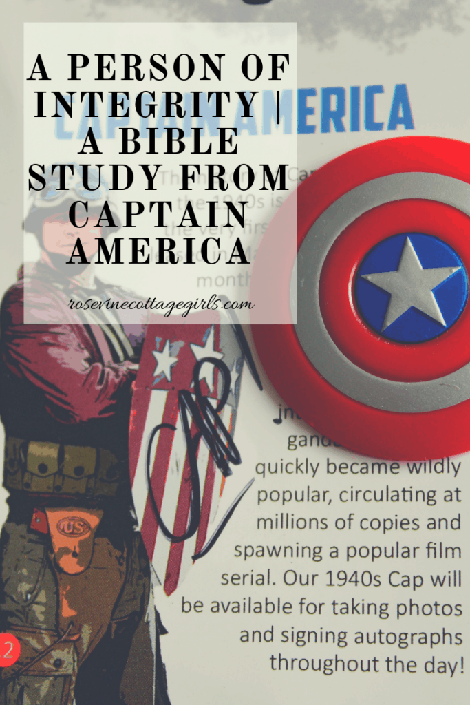 A person of integrity | A bible study from Captain America