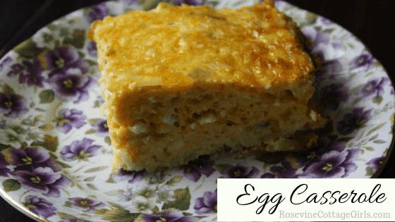 Egg Casserole, Breakfast Casserole, Breakfast Egg and Bacon Casserole, by Rosevine Cottage Girls egg casserole