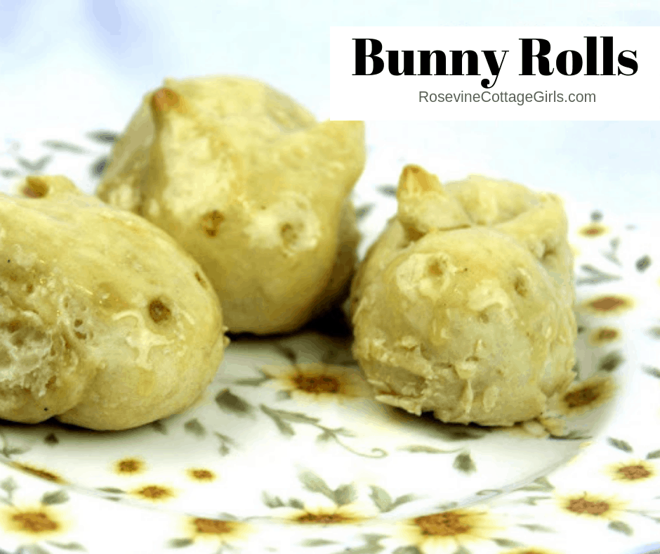 Bunny Rolls, Easter Bunny Rolls, Easter Dinner Rolls, Bunny Dinner Rolls, by Rosevine Cottage Girls