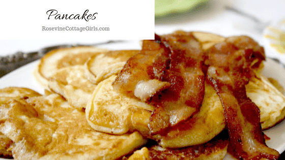 Pancakes, Traditional Pancakes, Classic Pancakes, How to make pancakes, Pancake Recipe by Rosevine Cottate Girls