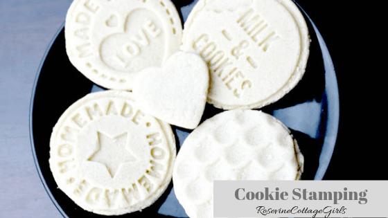 Cookie Stamping, Cookie Stamp Cookies, Cookie Stamp, Sugar Cookie Recipe, by Rosevine Cottage Girls
