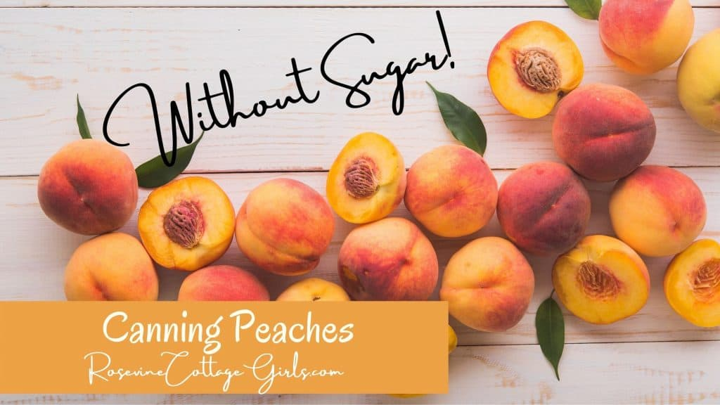 Canning Peaches | Peaches on a wooden white background