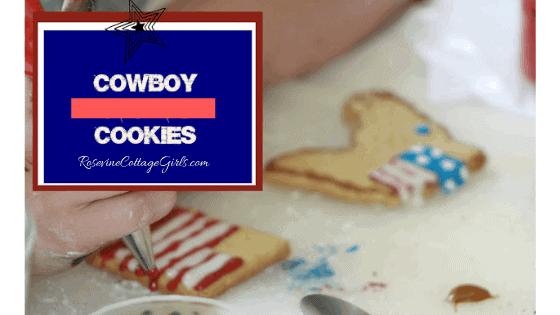 Cowboy Cookies, Cowboy Cookies Recipe, Cowboy Cutout Cookies, Western Theme Cookies, by Rosevine Cottage Girls