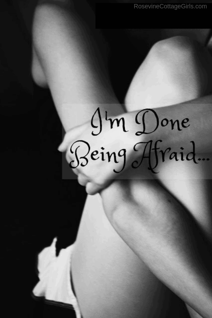 I'm Done Being Afraid, I'm Done, Perfect Parent, Judgement in parenting, trying to measure up (C) Rosevine Cottage Girls