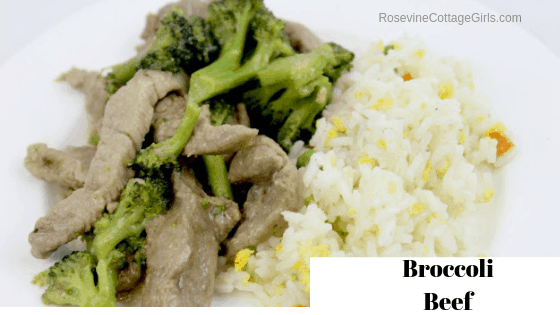 Broccoli Beef, Soy Free Broccoli Beef, Panda Express Broccoli Beef by Rosevine Cottage Girls