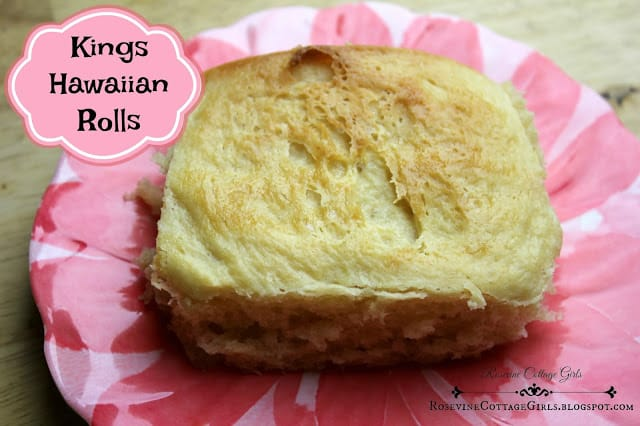 King's Hawaiian Rolls, Our version of King's Hawaiian Rolls, Healthy King's Hawaiian Rolls, by Rosevine Cottage Girls, Soy Free King's Hawaiian Rolls