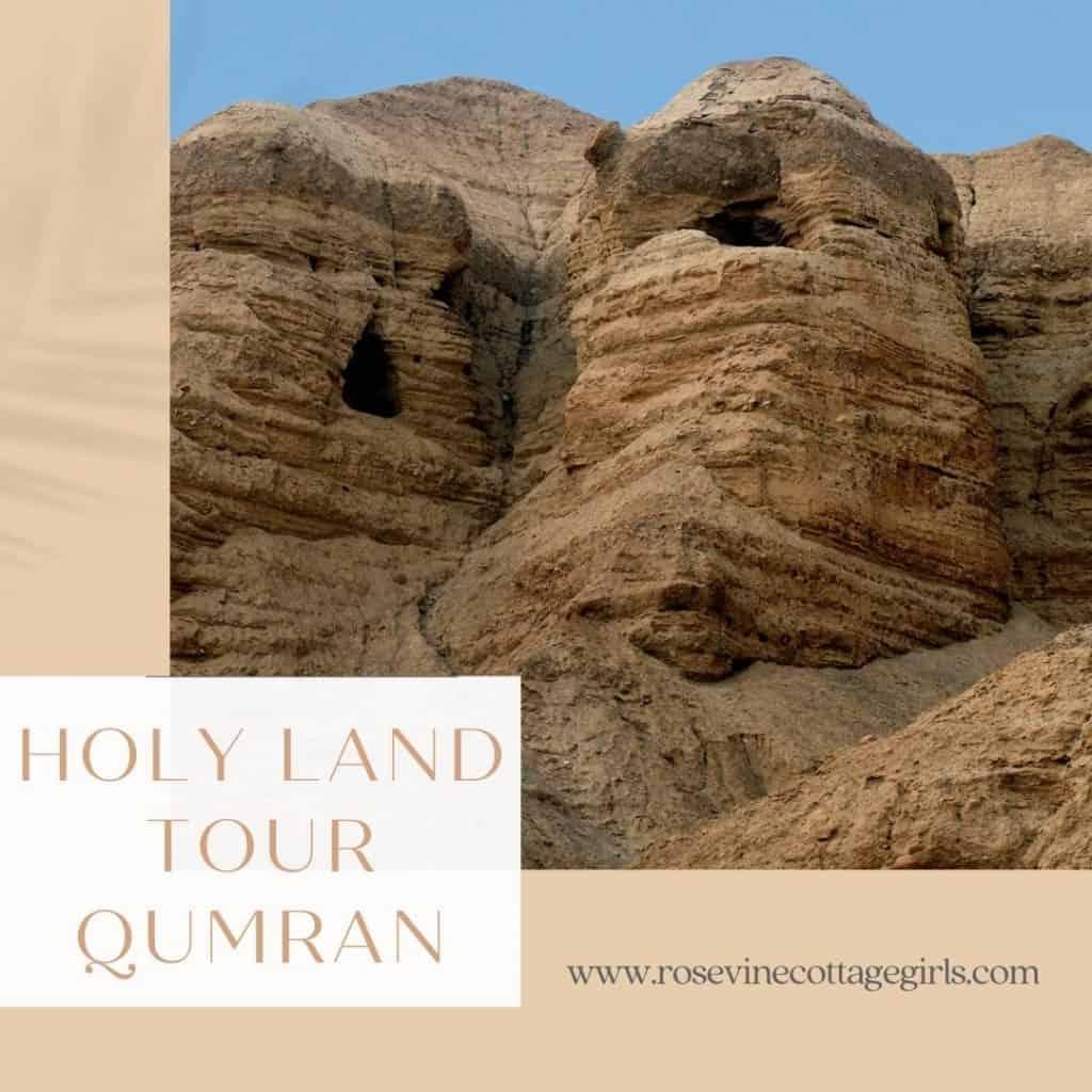Holy Land Tour Qumran | Photo of the caves of Qumran
