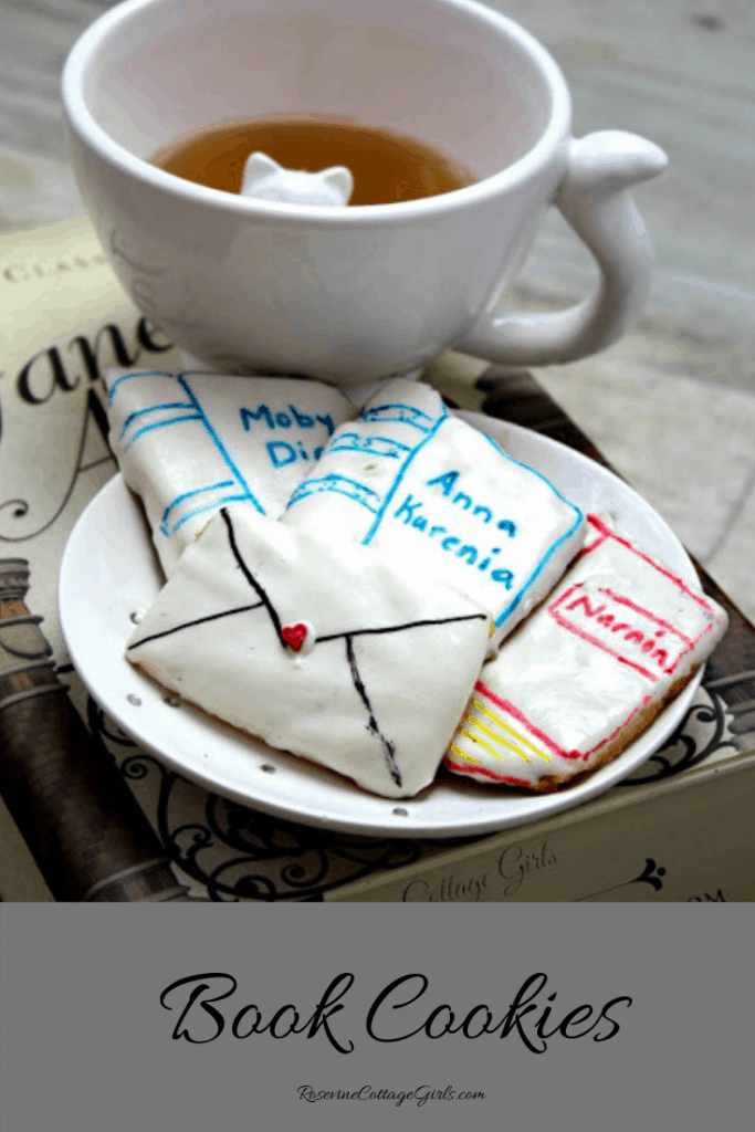 Book Cookies, Bibliophile Cookies, Book Club Recipe, Book Club Cookies, By Rosevine Cottage Girls