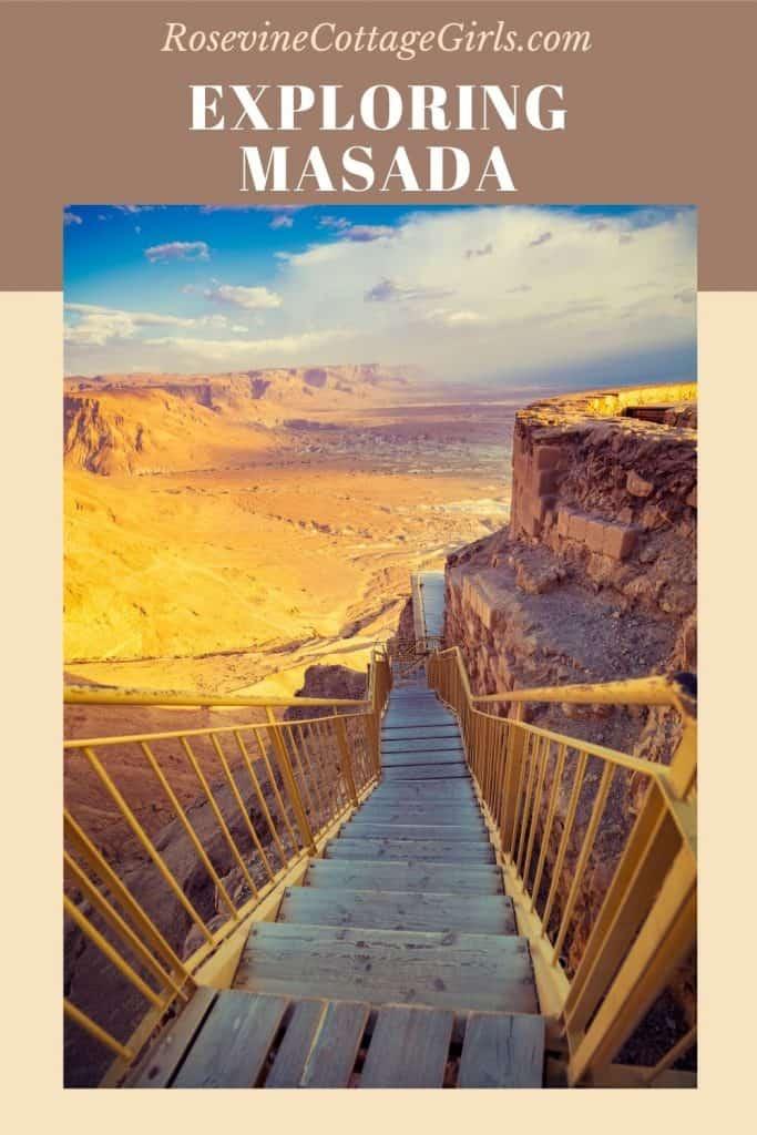 Exploring Masada | photo of the stairway up to the ruins of Masada Israel