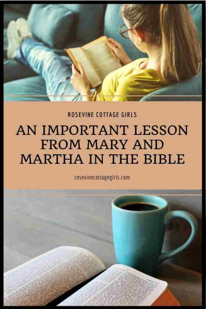 Woman reading a Bible, cup of coffee and Bible on table | An Important Lesson From Mary And Martha In The Bible