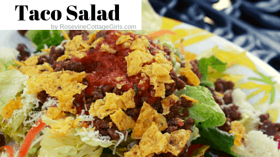 Taco Salad, How to make taco salad, what is in taco salad, taco salad recipe with chips