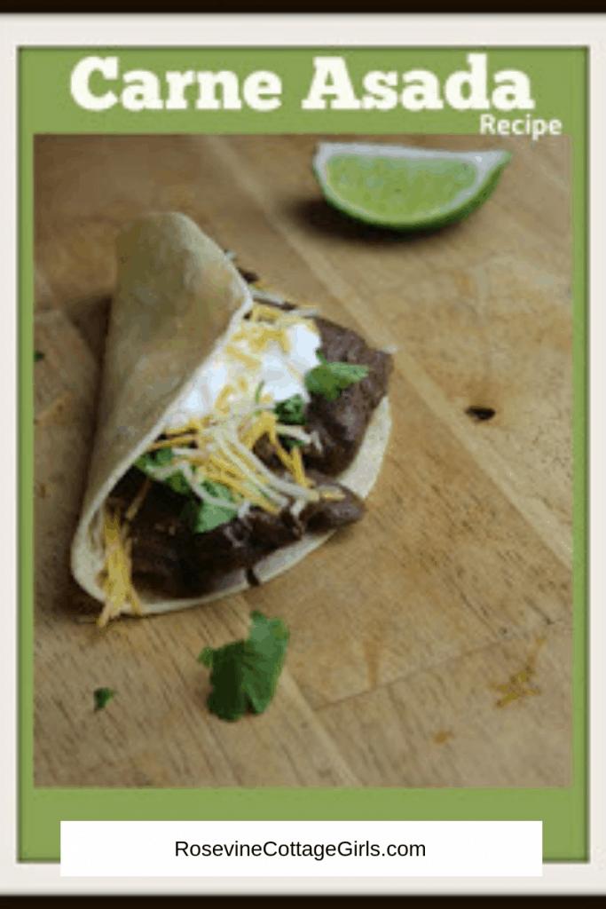 Carne Asada, Beef lime tacos, steak tacos, RosevineCottageGirls.com