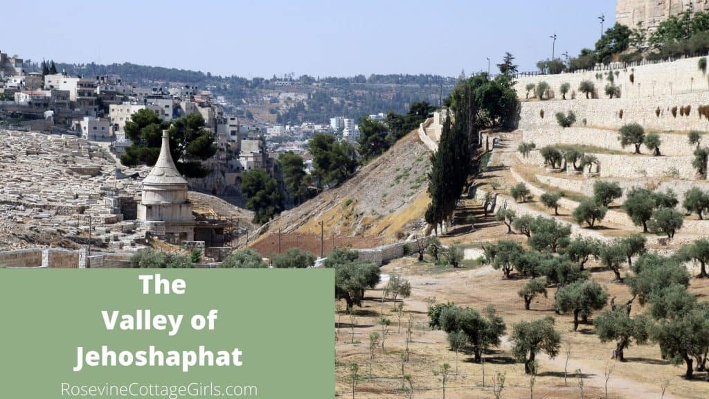 Valley of Jehoshaphat or Kidron Valley or Valley of Decision Jerusalem Israel