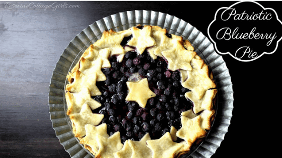 Blueberry Pie, Blueberry Pie Recipe, Patriotic Blueberry Pie, 4th of July blueberry pie
