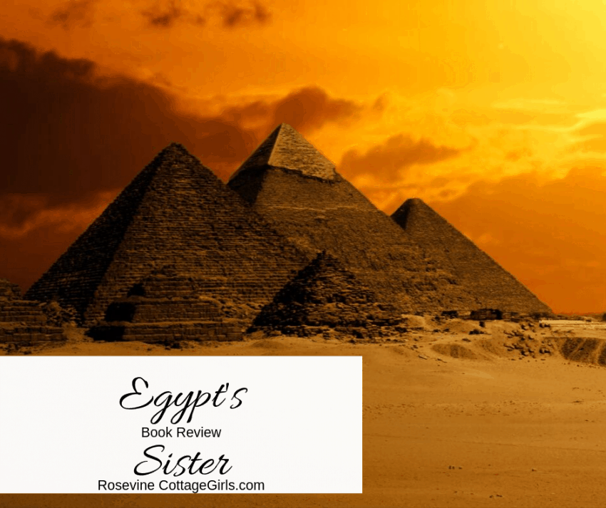 egypt's sister book review, Angela Hunt book review by Rosevine Cottage Girls