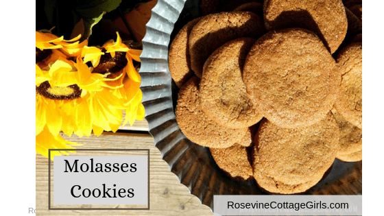 Molasses Cookies Recipe, Molasses Cookies, Molasses Spice Cookies by Rosevine Cottage Girls