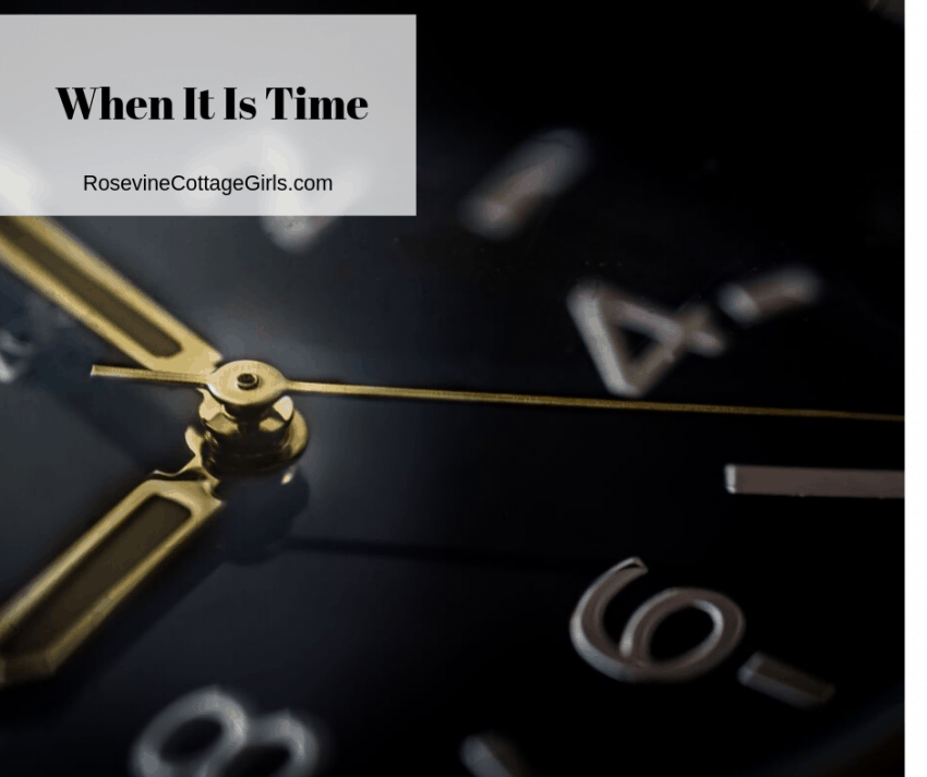 When it's time by rosevine cottage girls, It's time,The time is now.