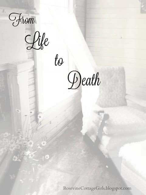 From Life To Death, empty room with a chair by a window with blowing sheer curtain