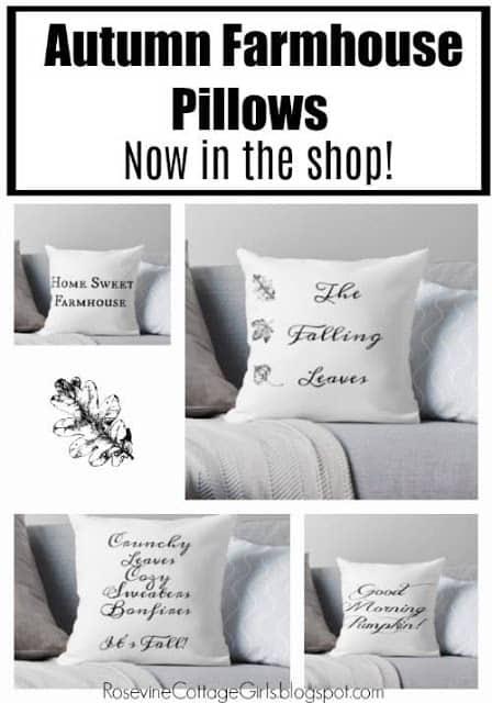 Autumn Farmhouse Pillows, Purchase Farmhouse Fall pillows by rosevine cottage girls