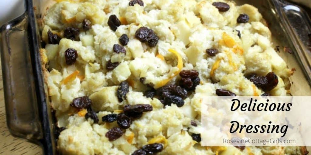 Delicious Christmas Dressing | photo of dressing with raisins, carrots and apples